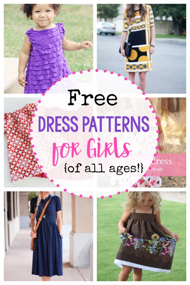 Sewing Patterns For Kids 25 Free Dress Patterns For Girls Of All Ages Crazy Little Projects