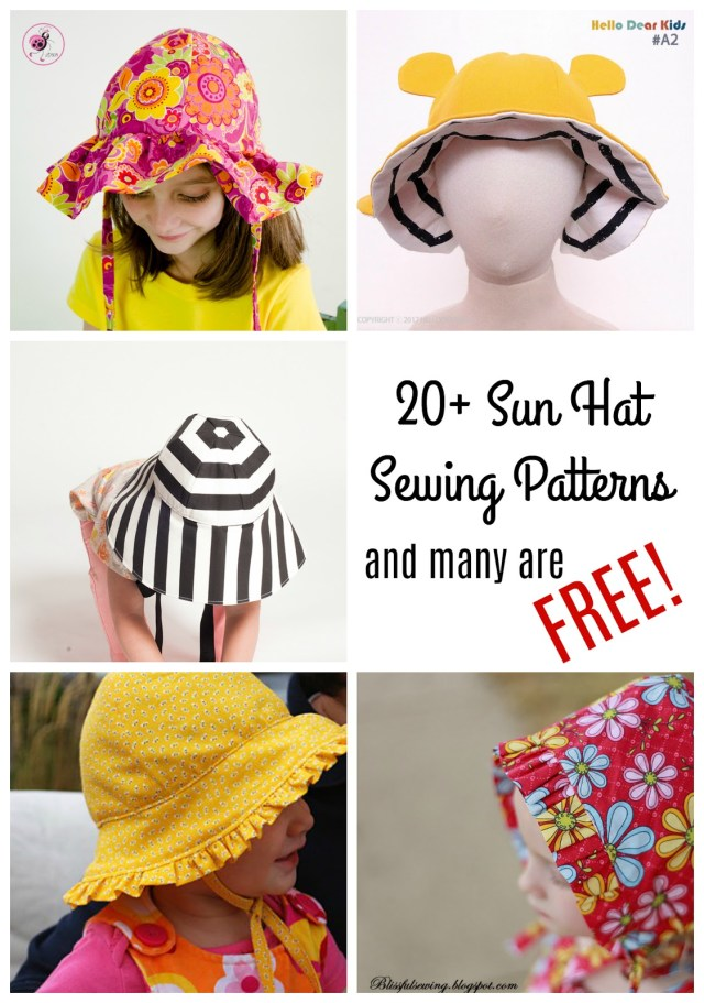 Sewing Patterns For Kids Ba Kids Sun Hat Sewing Patterns 20 Sewing Patterns Made Sara
