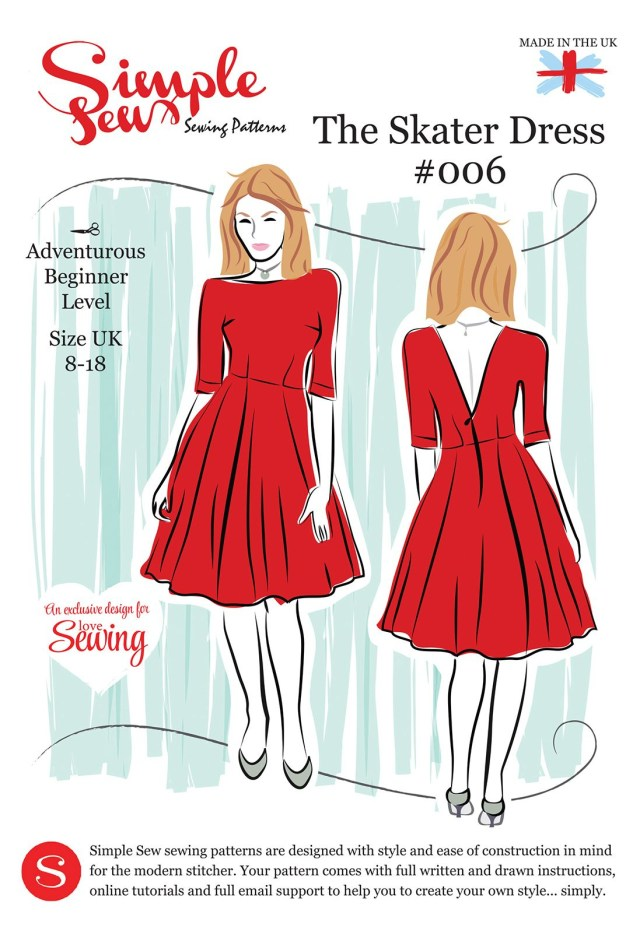 Sewing Patterns Free Simple Sew Ls08 Skater Pattern Envelope Free With Issue 8 Of Love