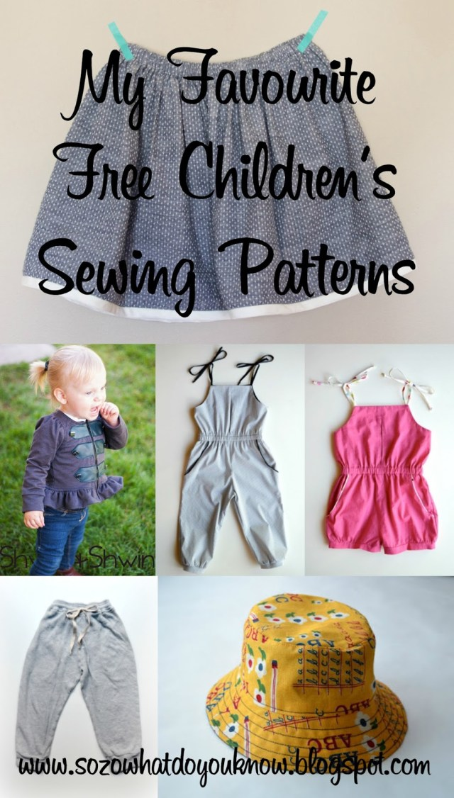 Sewing Patterns Free So Zo My Favourite Free Childrens Sewing Patterns