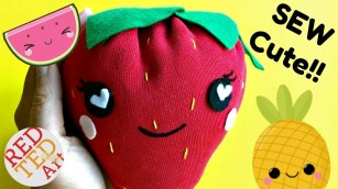 Sewing Projects Upcycled How To Sew A Strawberry Plushie Easy Sewing Project Diys Upcycled