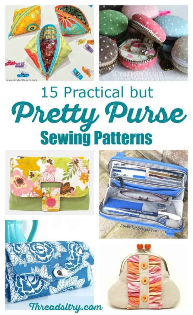 Sewing Wallet Pattern Free 15 Practical But Pretty Purse Sewing Patterns