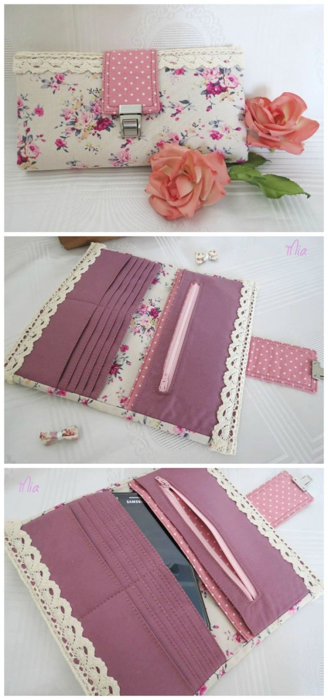 Sewing Wallet Pattern Free Rozy Wallet Sewing Pattern Options To Make It With Metal Hardware