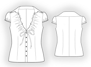 Shirt Sewing Pattern Blouse Sewing Pattern 5869 Made To Measure Sewing Pattern From