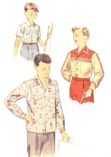 Shirt Sewing Pattern Vintage 1950s Sewing Pattern Boys Shirt In Three Styles Etsy