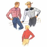 Shirt Sewing Pattern Vintage 60s Simplicity 4703 Mens Western Shirt Sewing Pattern Chest