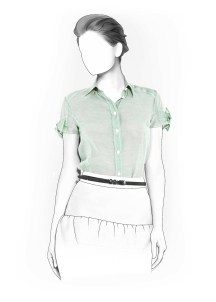 Shirt Sewing Pattern Womens Blouse Sewing Pattern 4002 Made To Measure Sewing Pattern From