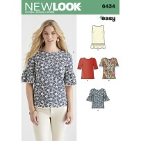 Shirt Sewing Pattern Womens New Look Womens Top Sewing Pattern 6434 Hobcraft
