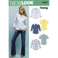 Shirt Sewing Pattern Womens New Look Womens Tops Sewing Pattern 6407 Hobcraft