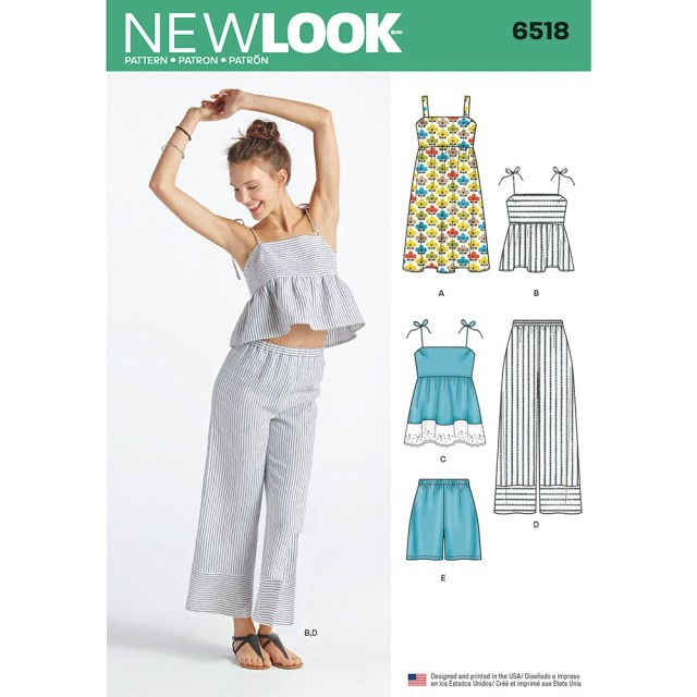 Shorts Sewing Pattern Womens Dress Tops In Two Lengths Trousers And Shorts New Look