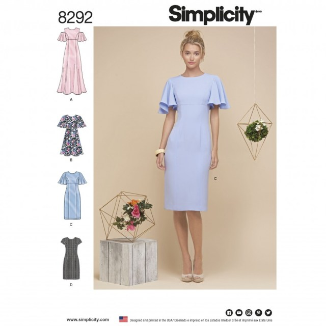 Simplicity Sewing Patterns Simplicity Sewing Pattern 8292 H5 Misses Dresses Sewing