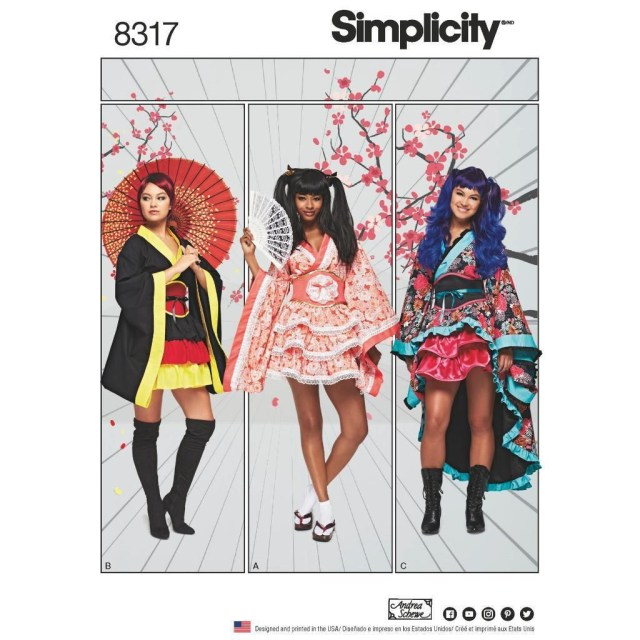 Simplicity Sewing Patterns Simplicity Sewing Pattern Misses Geisha Costumes Kimono Size 6 24 8317