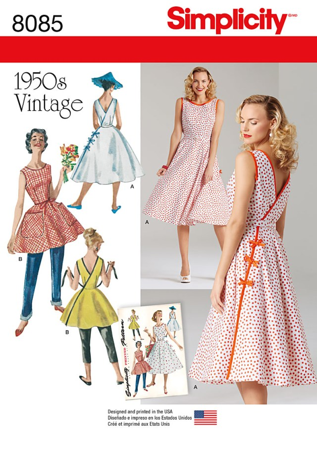 Simplicity Sewing Patterns Simplicity Sewing Pattern Misses Vintage 1950s Wrap Dress In Two