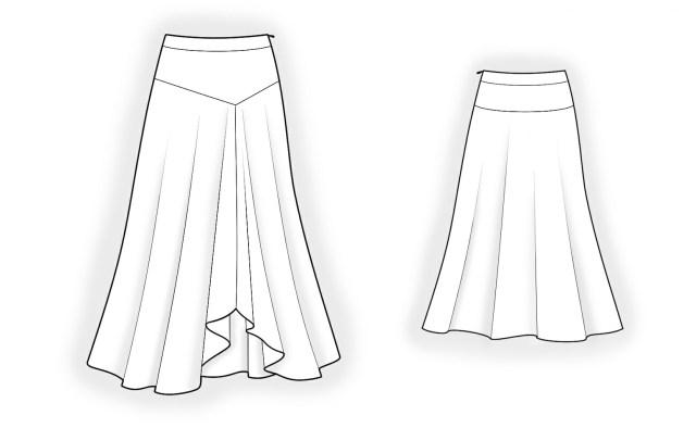 Skirt Sewing Patterns Long Skirt Sewing Pattern 4186 Made To Measure Sewing Pattern