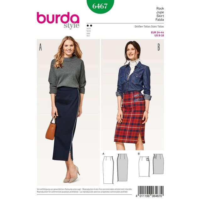 Skirt Sewing Patterns Misses High Waisted Skirt Burda Sewing Pattern 6467 Sew Essential