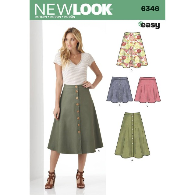 Skirt Sewing Patterns New Look Womens Easy Skirt Sewing Pattern 6346 Hobcraft