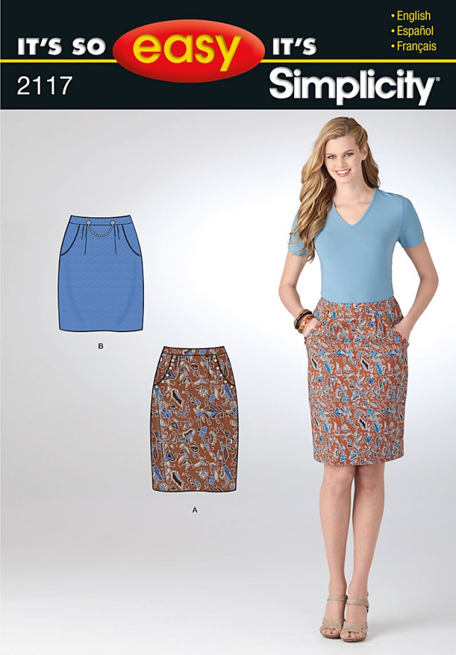 Skirt Sewing Patterns Simplicity 2117 Misses Skirt