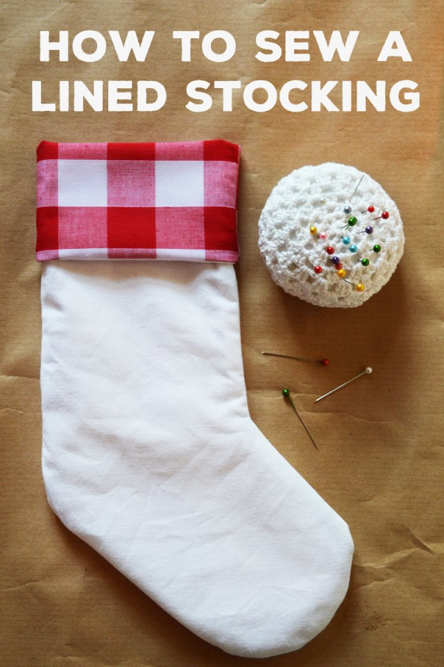 Stocking Sewing Pattern Diy Lined Stocking Free Pattern