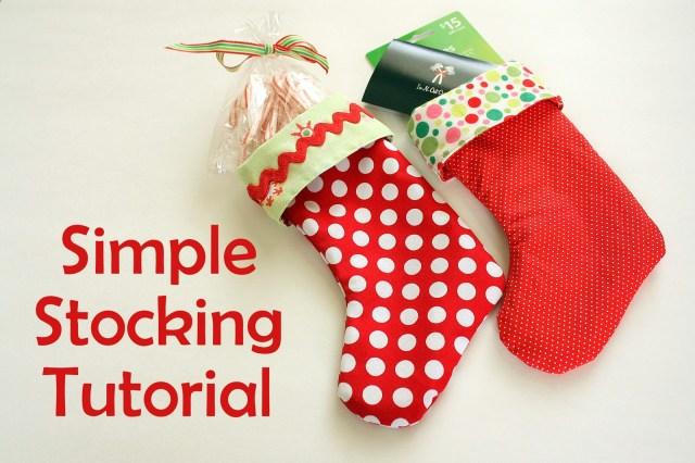 Stocking Sewing Pattern Easy Diy Stocking Tutorial