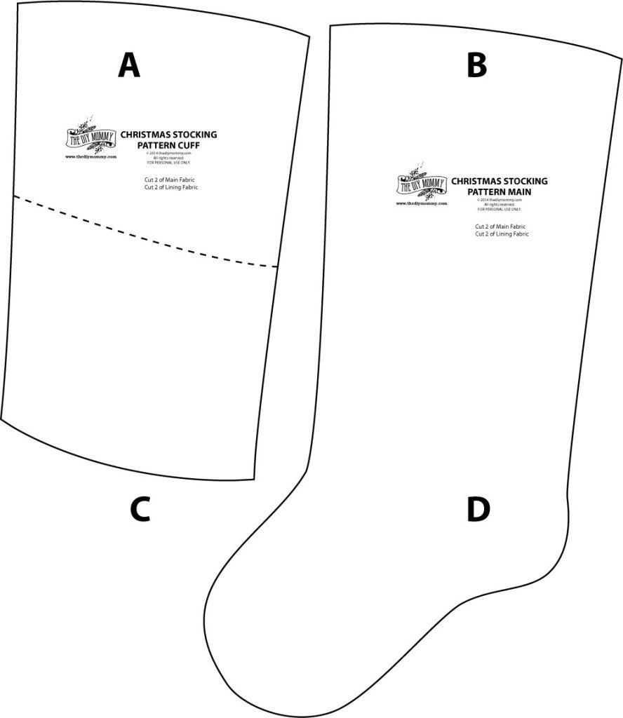 photograph relating to Stocking Patterns Printable named 23+ Superb Think about of Stocking Sewing Routine