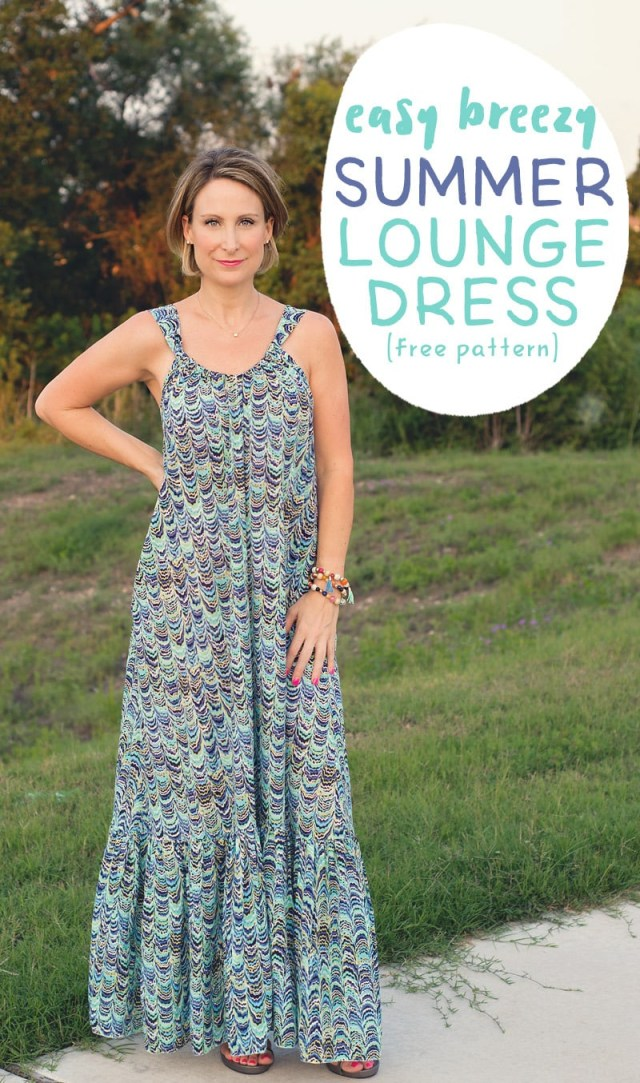 Sundress Sewing Patterns Easy Breezy Summer Lounge Dress Pattern And Tutorial