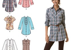 Sweater Sewing Patterns For Women Womens Shirt Easy Sewing Pattern 2447 Simplicity Easy To Sew