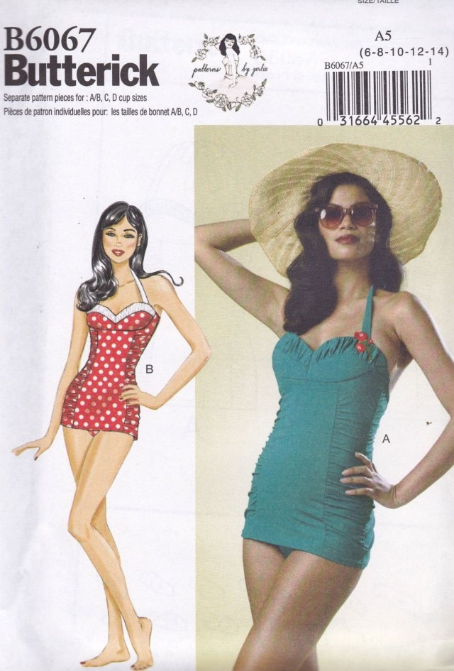Swimsuit Sewing Patterns Butterick Sewing Pattern Miss Close Fitting Vintage Swimsuit Sizes 8