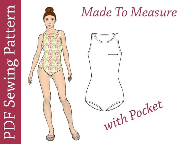 Swimsuit Sewing Patterns Swimsuit Pdf Pattern Custom Size Pdf Sewing Pattern Swimsuit Etsy