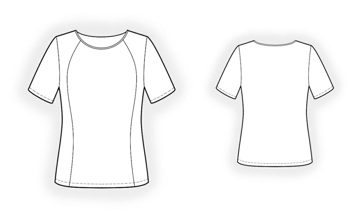 T Shirt Sewing Pattern Sport Shirt Sewing Pattern 4272 Made To Measure Sewing Pattern
