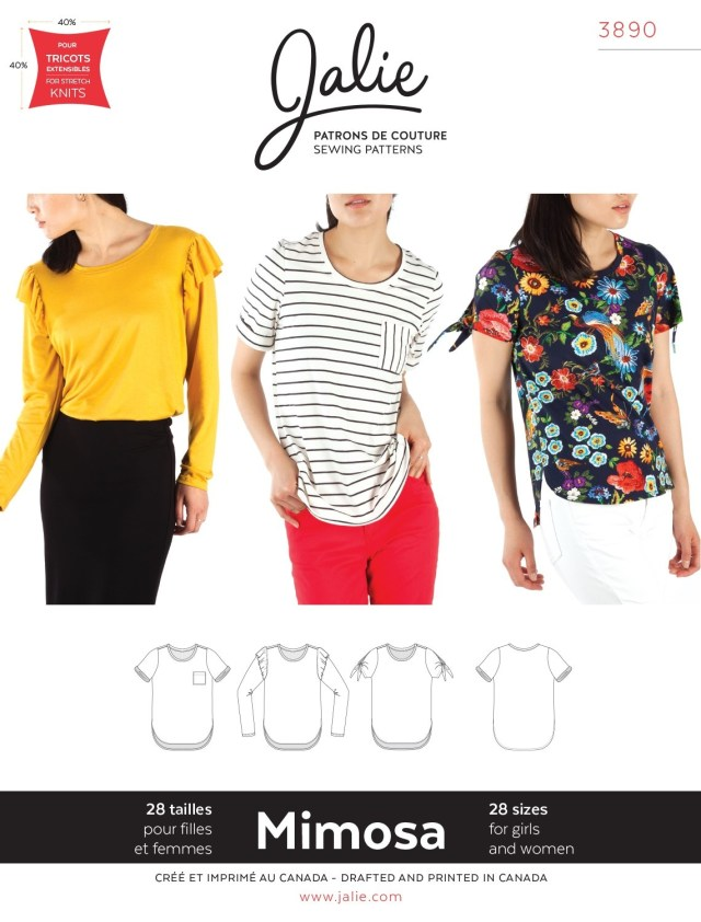 T Shirt Sewing Pattern The Fabric Fairy Mimosa Scoopneck T Shirt Sewing Pattern Jalie