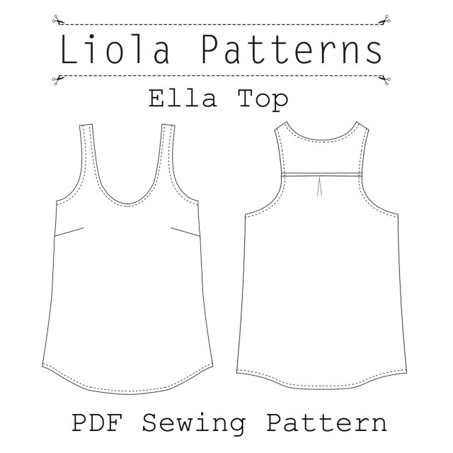 Tank Top Sewing Pattern Ella Top Pdf Sewing Pattern Etsy