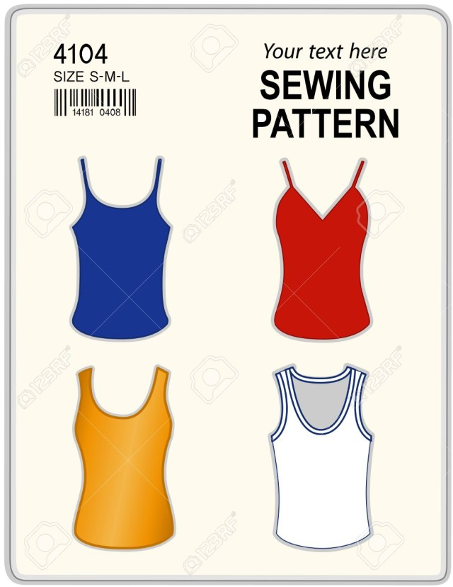 Tank Top Sewing Pattern Fashion Sewing Pattern For Women Four Styles Tank Tops T Shirts