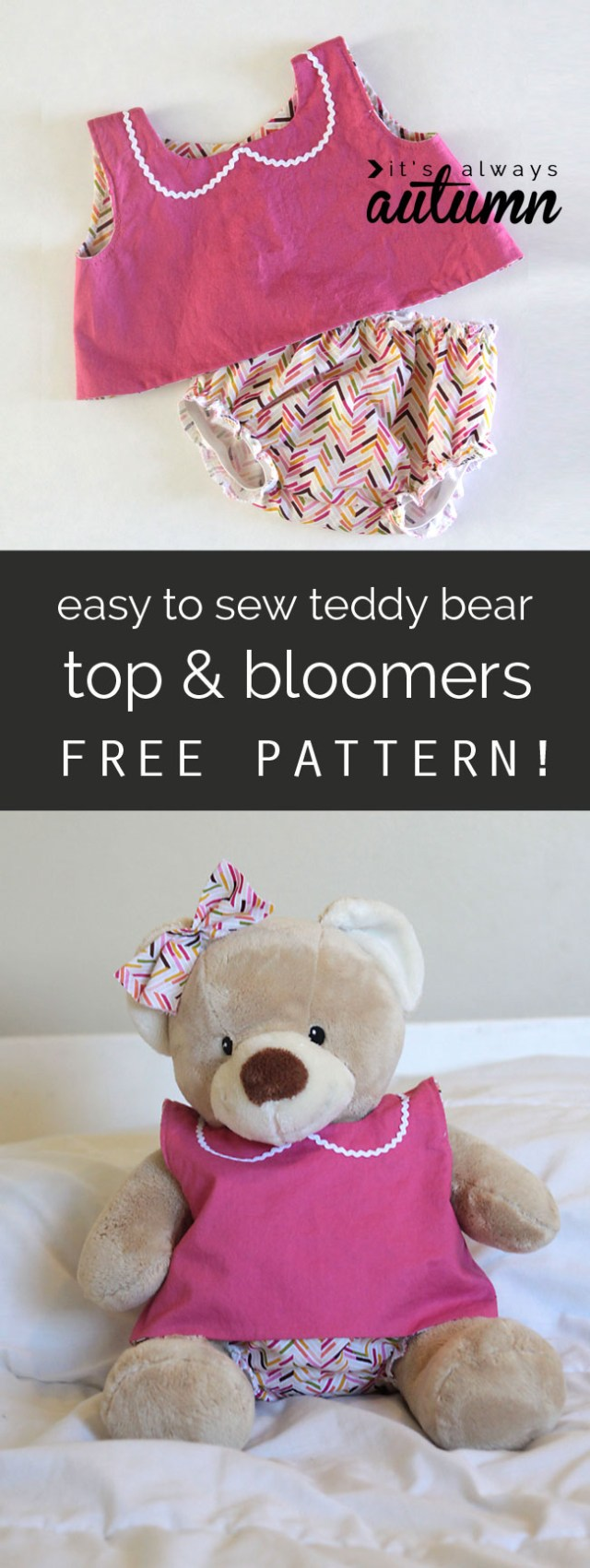 Teddy Bear Sewing Pattern Free Pattern For Easy To Sew Teddy Bear Clothes Build A Bear