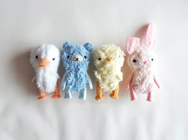 Teddy Bear Sewing Pattern Miniature Teddy Bear Sewing Patterns Duck Bear Bunny And Chick