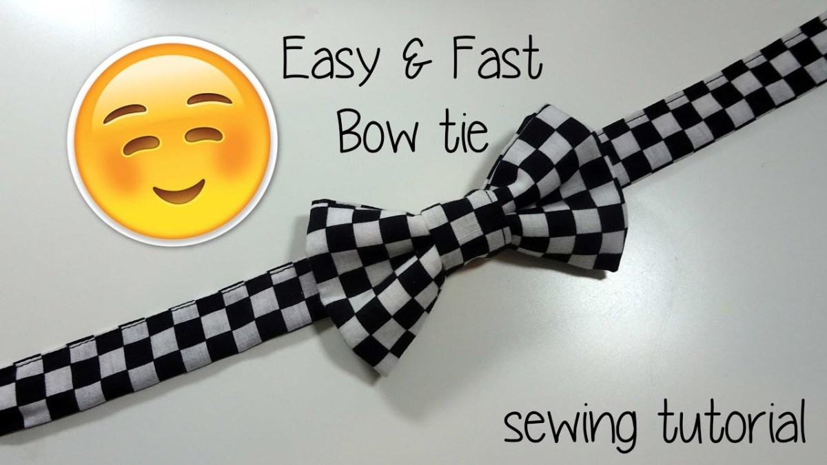 Tie Sewing Pattern Sewing Tutorial Fast Easy Bow Tie Youtube