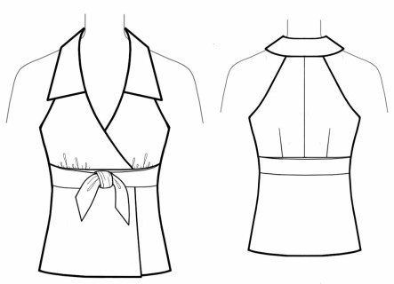 Tie Sewing Pattern Top With Tie Sewing Pattern 5631 Made To Measure Sewing Pattern