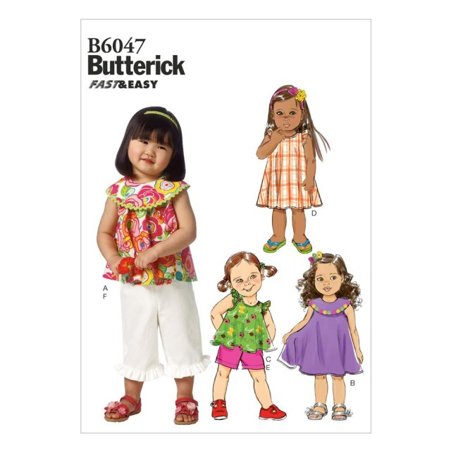 Toddler Sewing Patterns Butterick B6047 Toddlers Top Dress Shorts And Pants Pattern Ccb