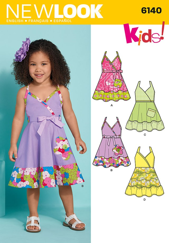 Toddler Sewing Patterns New Look 6140 Toddler Dress And Belt