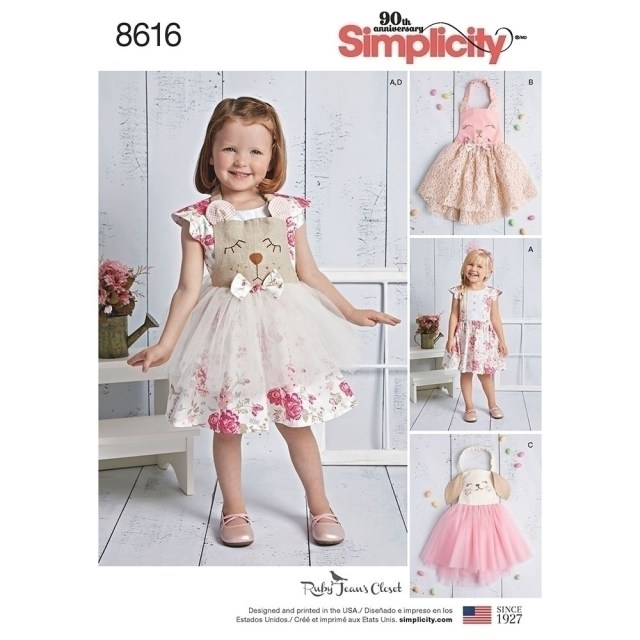 Toddler Sewing Patterns Toddlers Dress And Apron Tutu Simplicity Sewing Pattern 8616 Sew
