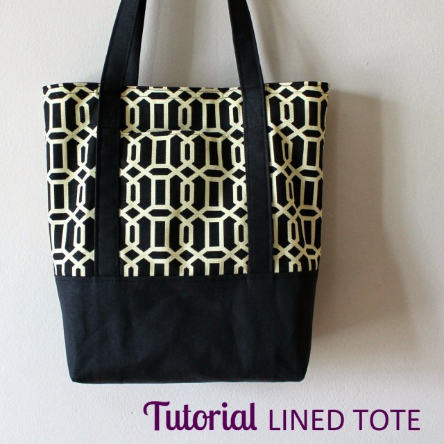 Tote Bag Sewing Pattern The Inspired Wren Tutorial Lined Canvas Tote