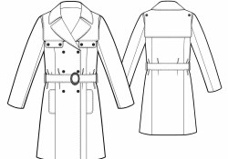 Trench Coat Sewing Pattern Trench Coat Sewing Pattern 5488 Made To Measure Sewing Pattern