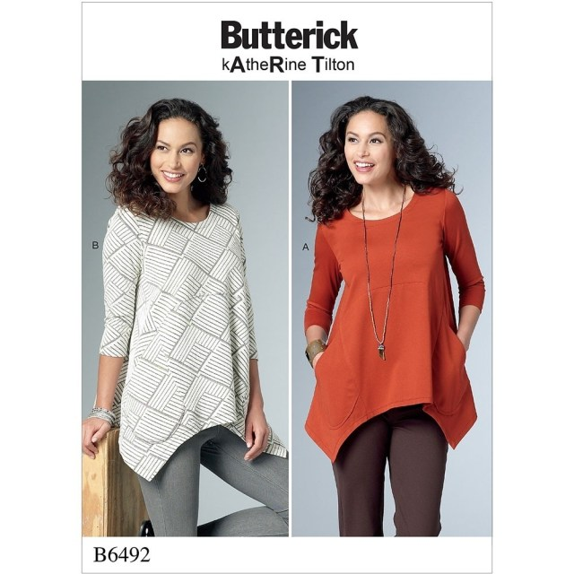 Tunic Sewing Pattern Misses Loose Knit Tunics Butterick Sewing Pattern 6492 Sew Essential