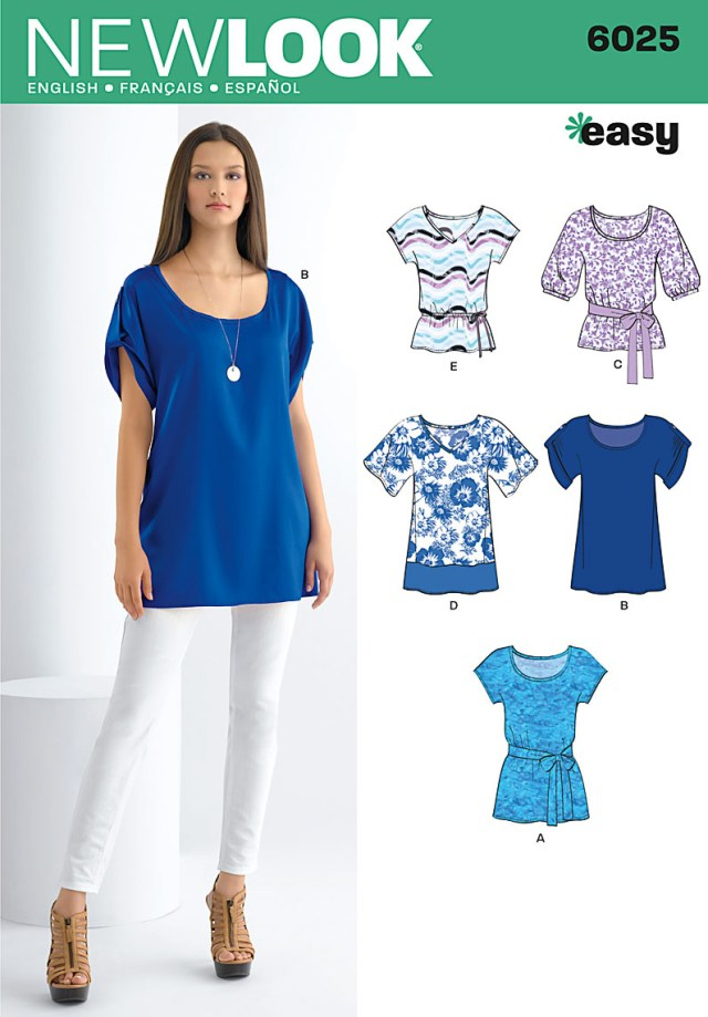 Tunic Sewing Pattern New Look 6025 Misses Topstunics