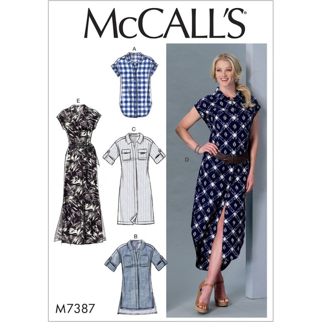 Tunic Sewing Patterns Misses Button Down Top Tunic Dresses And Belt Mccalls Sewing