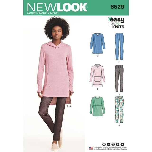 Tunic Sewing Patterns Misses Knit Tunics And Leggings New Look Sewing Pattern 6529 Sew