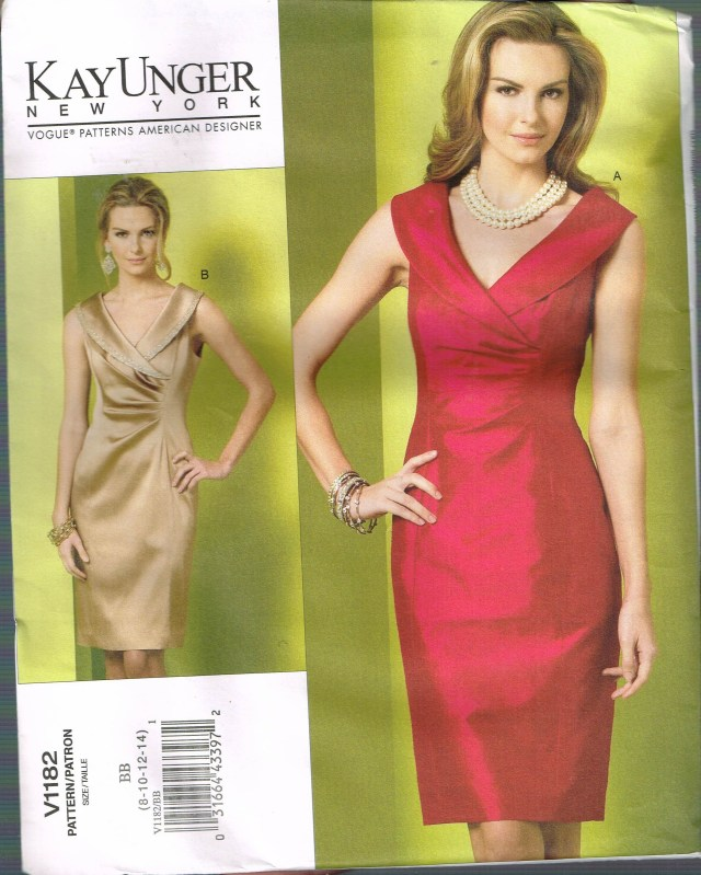 V Neck Dress Sewing Pattern Size 8 14 Misses Formal Dress Pattern V Neck Sheath Dress Etsy