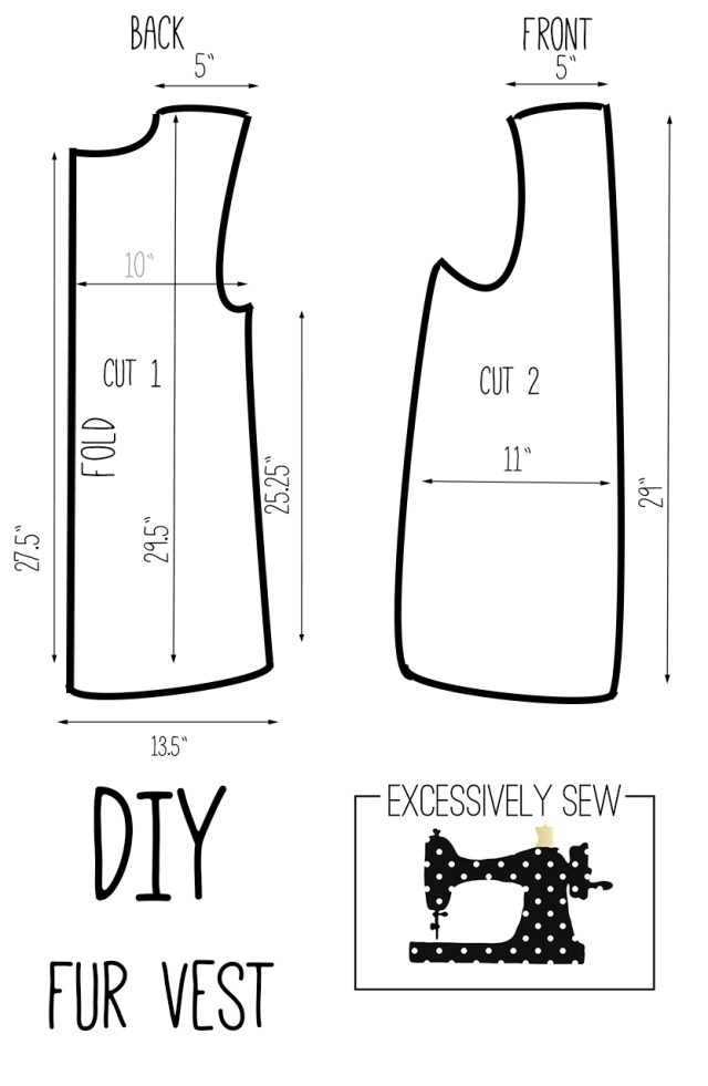 Vest Pattern Sewing Diy Fur Vest Tutorial Excessively Sew