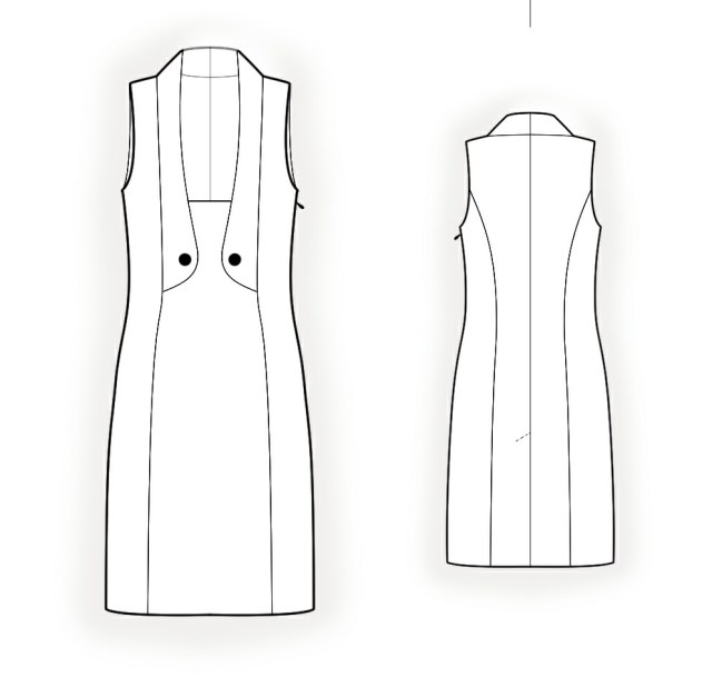 Vest Pattern Sewing Dress With Vest Imitation Sewing Pattern 4212 Made To Measure
