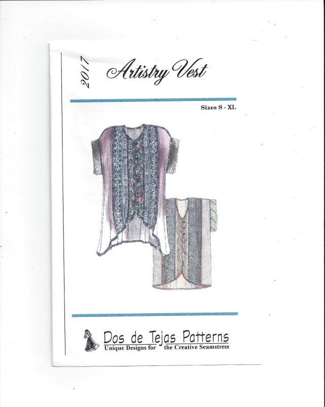 Vest Patterns To Sew Dos De Tejas Pattern 2017 For Artistry Vest Sizes S Xl From 1997