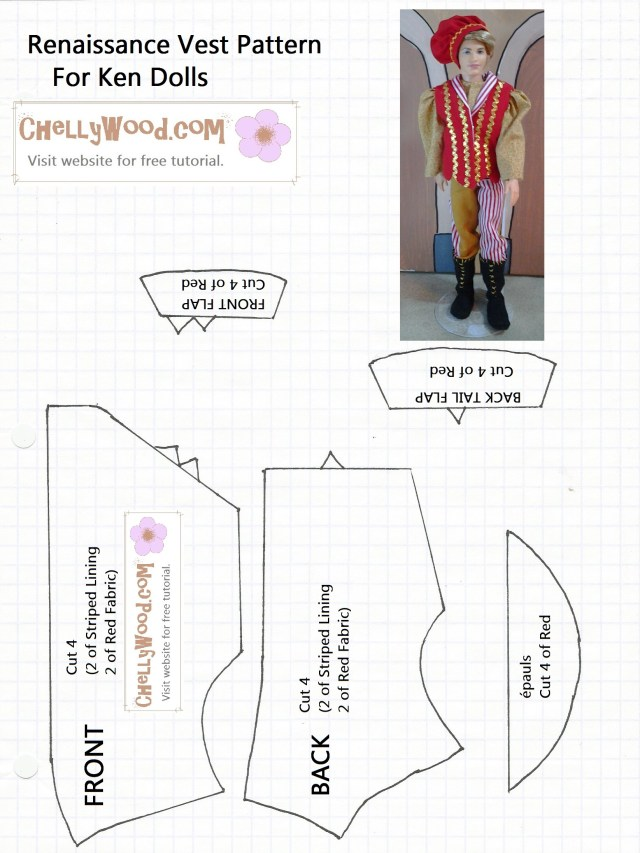 Vest Patterns To Sew Free Printable Barbie Doll Clothes Patterns Chellywood